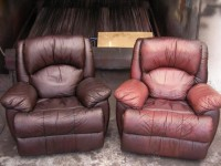 Leather furniture restaining