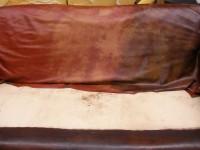 Leather lounge restoration
